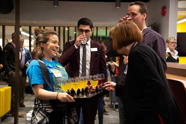 Capilano University hosts students, employees and guests at the grand opening of the new Learning Commons on Tuesday, Nov. 20, 2018.