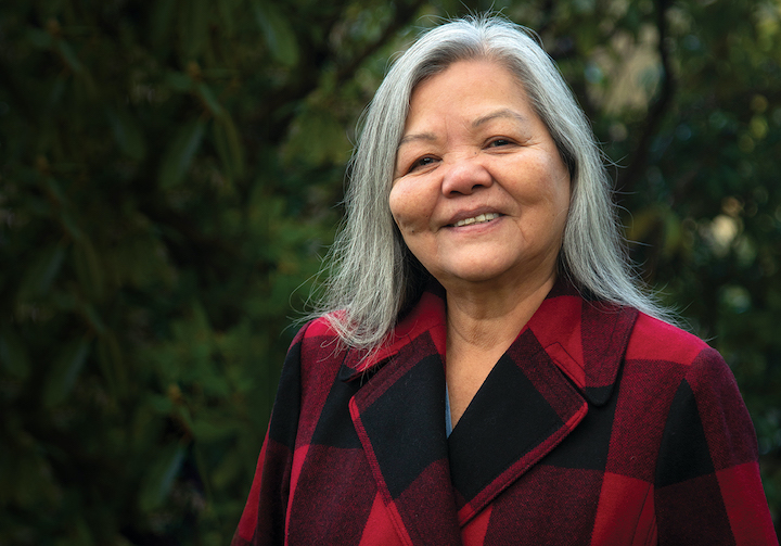 Susan Point is one of two recipients of an honorary degree from Capilano University in 2020, receiving a Doctor of Fine Arts.