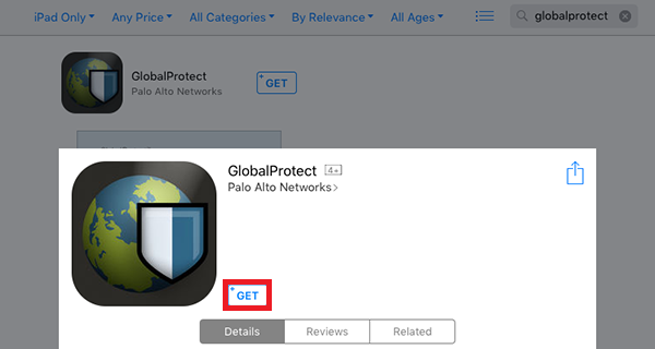 GlobalProtect in the AppStore