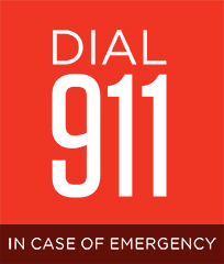 dial 911 in case of emergency;